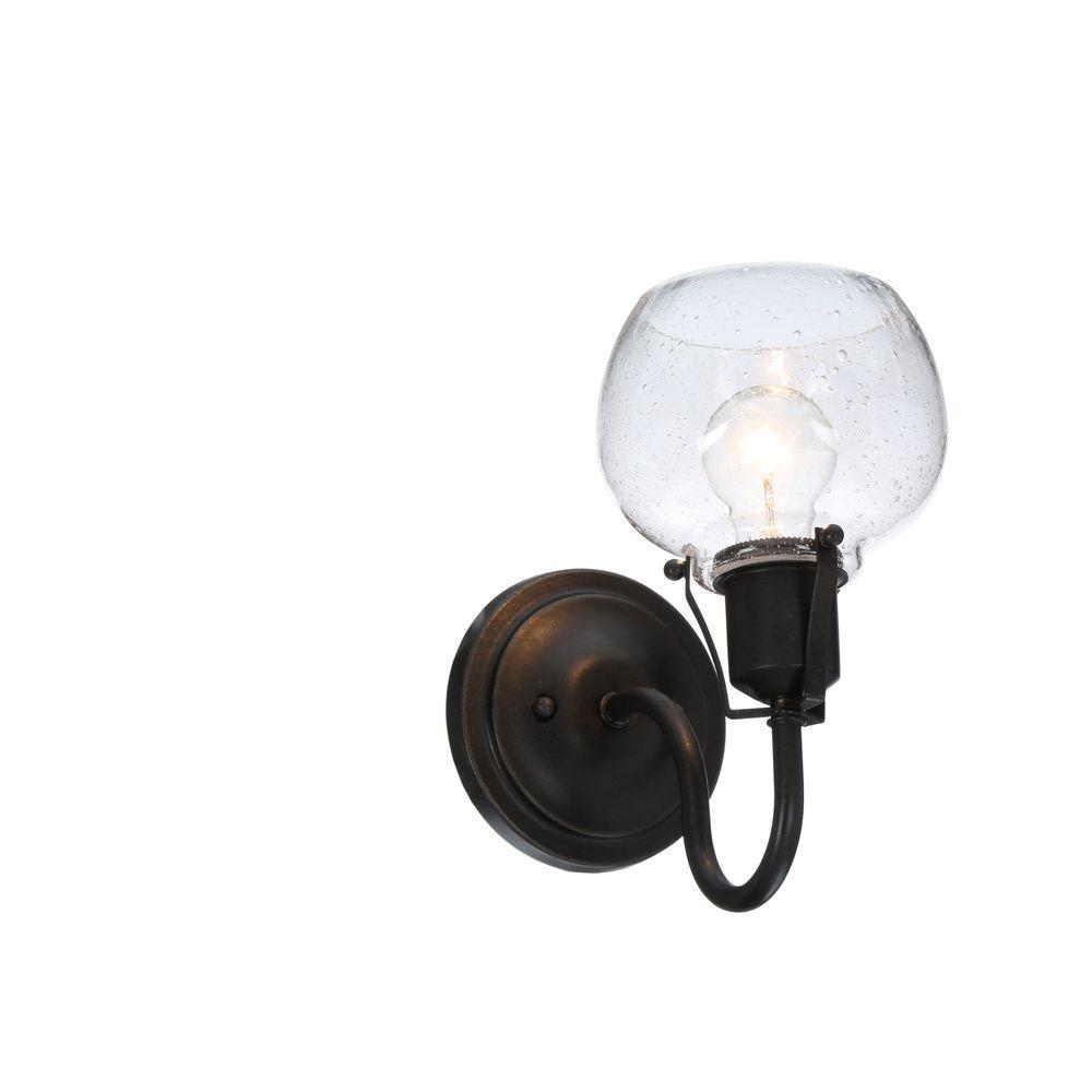 Urban Renewal 1-Light Rustic Iron Vanity Light