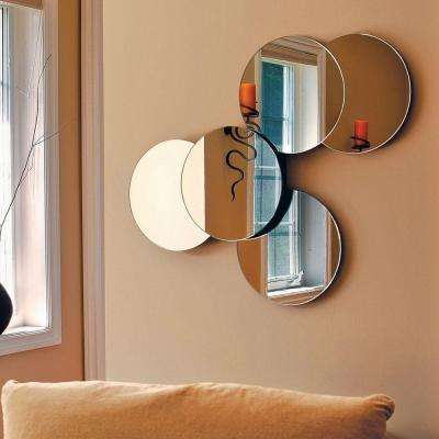 nexxt Solei 27 in. x 22 in. Wall Mirror with 5 Connected Round Mirrors