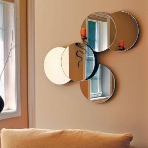 AZ Home and Gifts nexxt Solei 27 inch x 22 inch Wall Mirror with 5 Connected Round Mirrors by AZ Home and Gifts