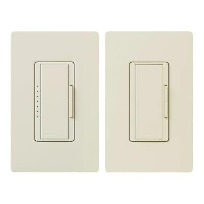 Maestro LED+ Dimmer Switch Kit for Dimmable LED, Halogen and Incandescent Bulbs, 3-Way or Multi-Location, Light Almond