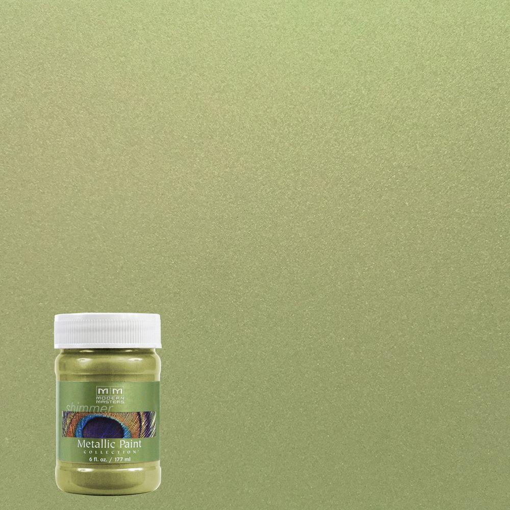 6 oz. Sage Water-Based Satin Metallic Interior/Exterior Paint
