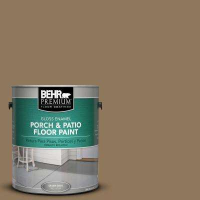 1 gal. #N300-6 Archaeological Site Gloss Enamel Interior/Exterior Porch and Patio Floor Paint