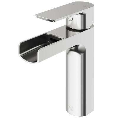 Ileana Single Hole Single-Handle Bathroom Faucet in Brushed Nickel