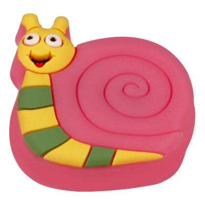 Kids Corner Snail 2 in. x 1-7/8 in. Multi-Colored Metal Cabinet Knob