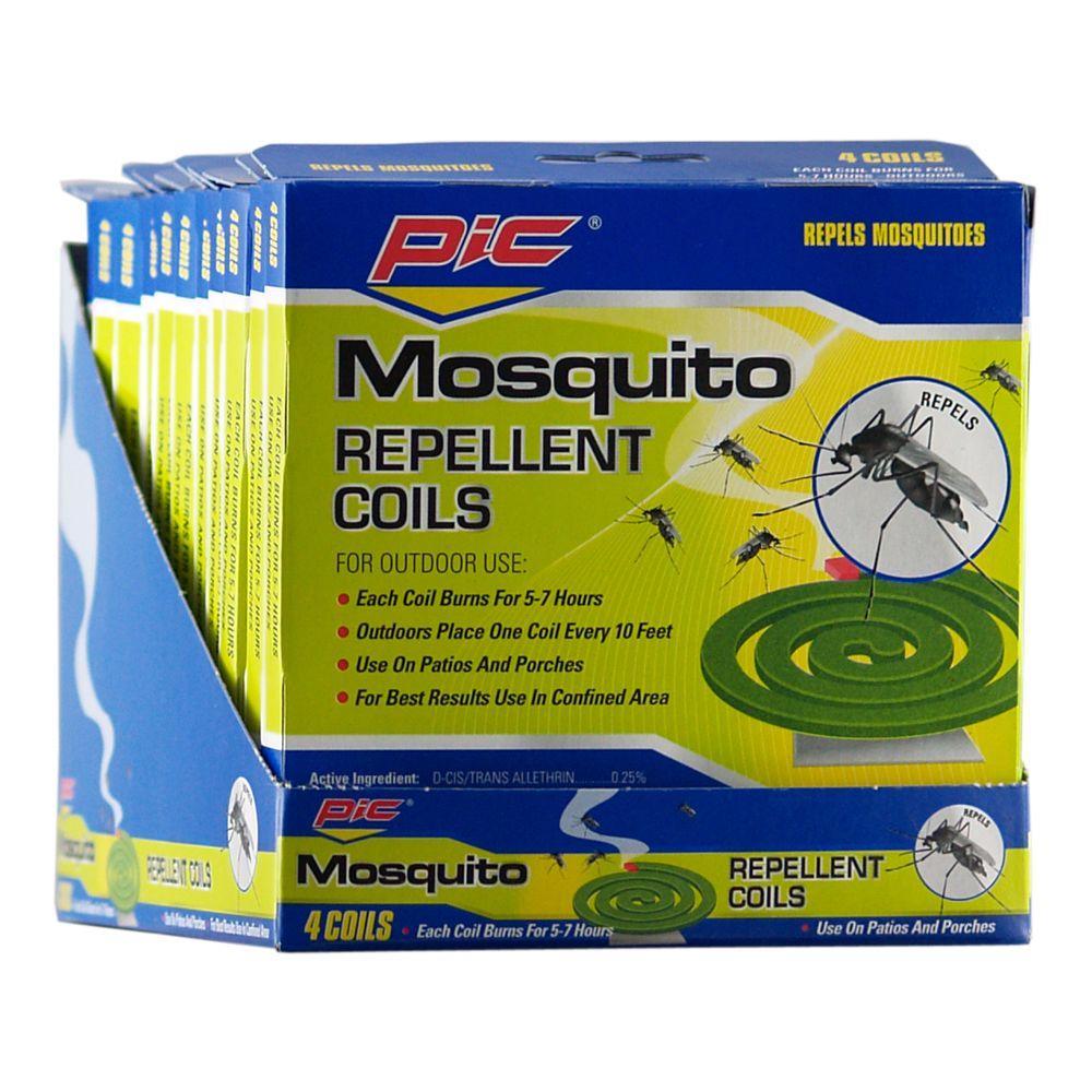 PIC Mosquito Repellent Coils (4-Pack)
