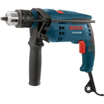 Factory Reconditioned Corded 1/2 in. Single Speed Hammer Drill with Auxiliary Handle and Chuck Key