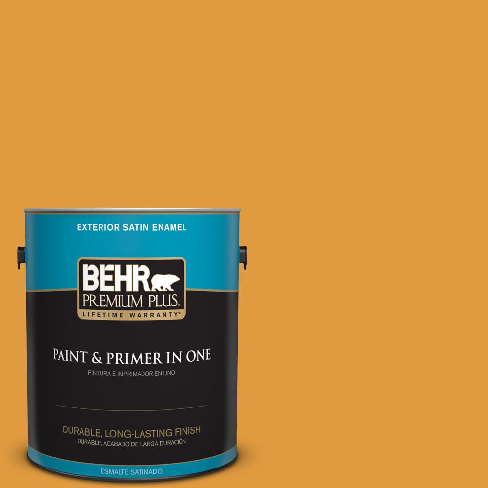 1 gal. #T18-05 Life Is Good Satin Enamel Exterior Paint
