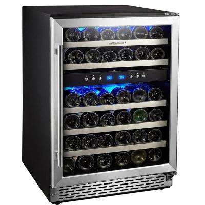 24 in. Built-In or Free-Standing 46 Bottle Wine Cooler Refrigerator, Temperature Setting