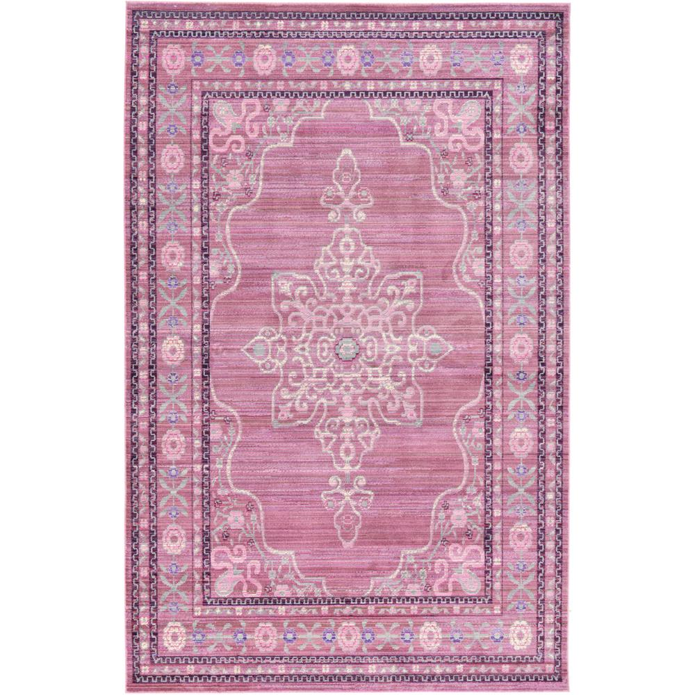 Unique Loom Aria Pink 5 ft. x 8 ft. Area Rug, Blush Pink