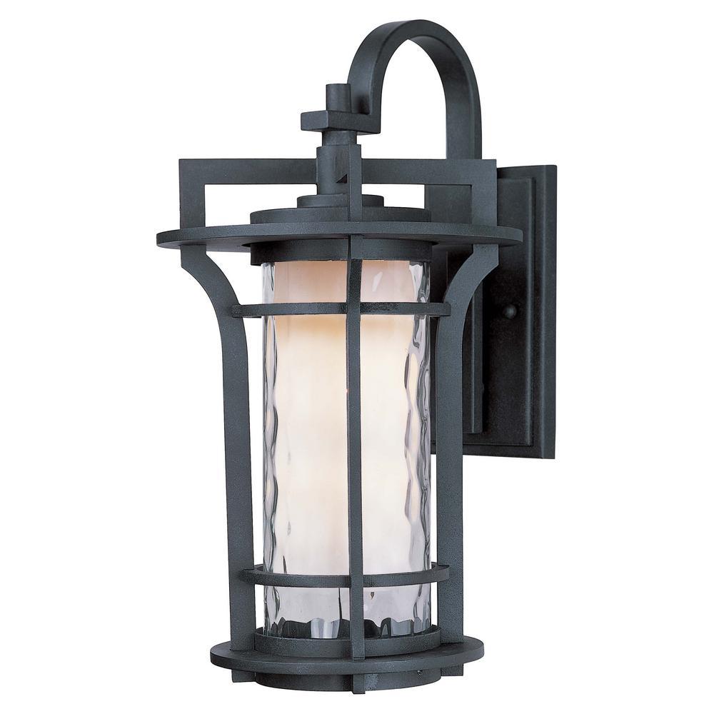 Oakville 10 in. W 1-Light Black Oxide Outdoor Wall Lantern Sconce