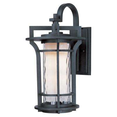 Oakville 10 in. W 1-Light Black Oxide Outdoor Wall Mount Sconce