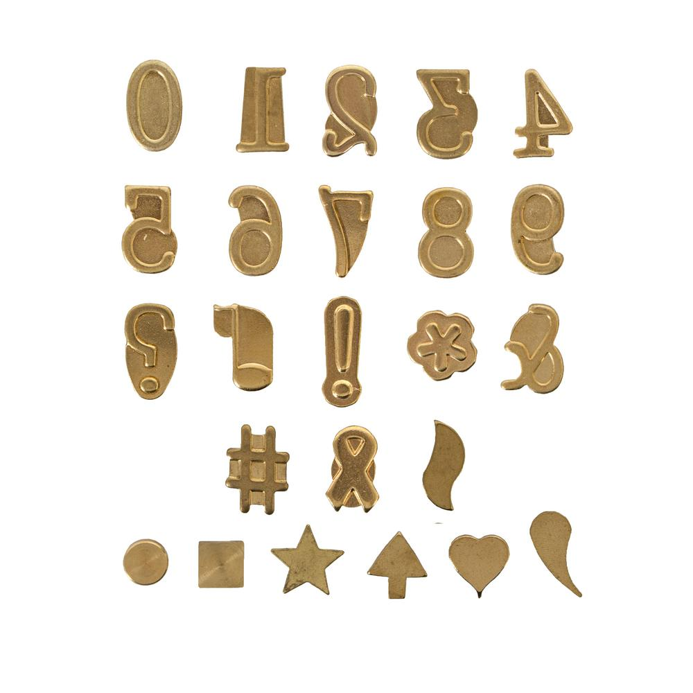 Walnut Hollow Hot Stamps Number And Symbols Set 27399 The Home Depot