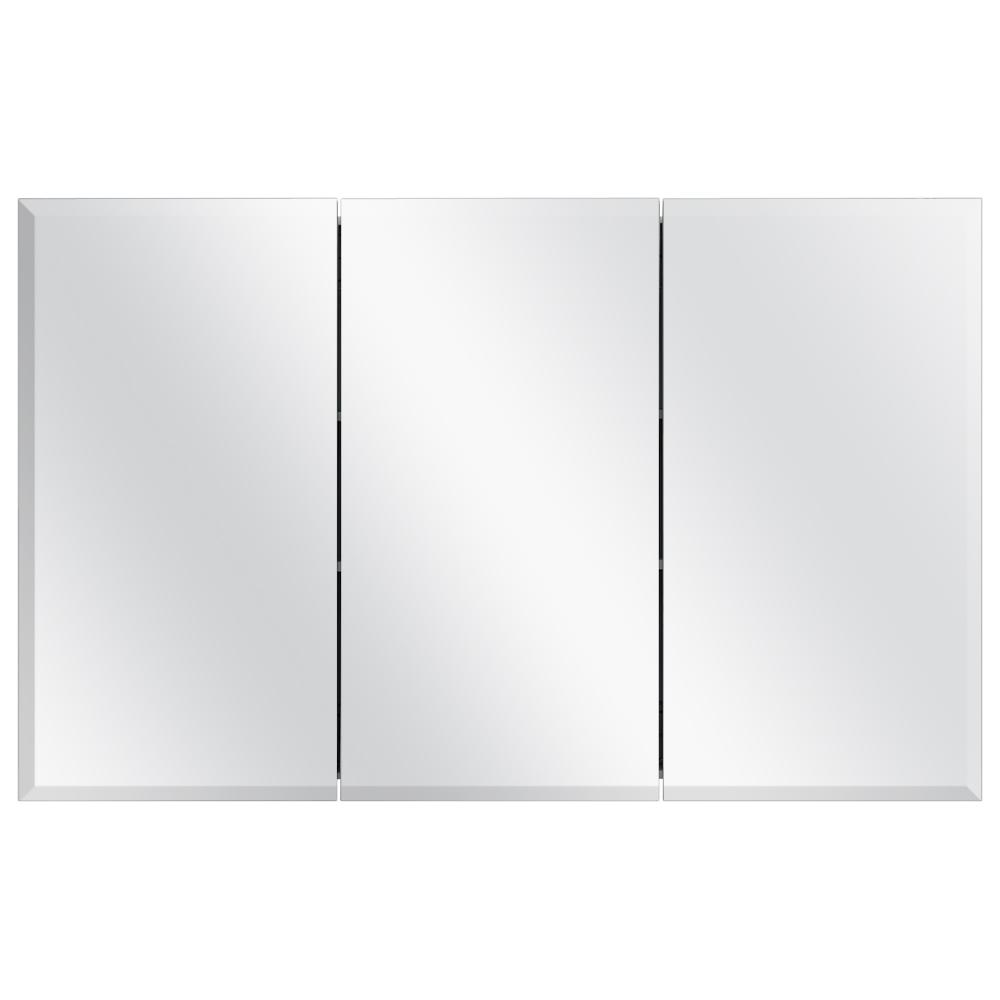 48-3/8 in. W x 30 in. H Frameless Surface-Mount Tri-View Bathroom