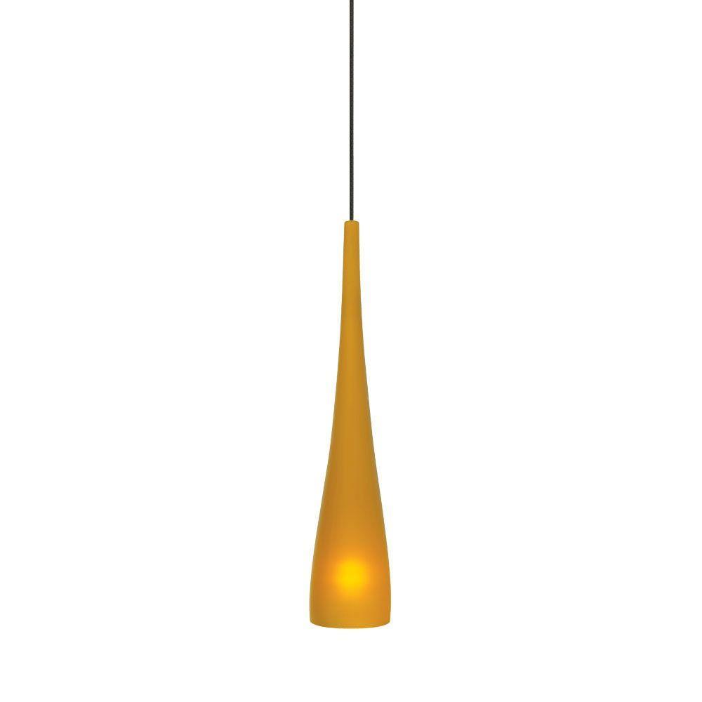 Cypree Small 1-Light Amber Bronze Hanging Mini Pendant