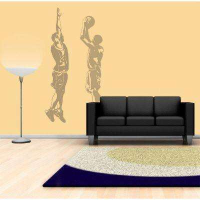 121 in. x 39 in. Action Basketball 2-Piece Wall Decal