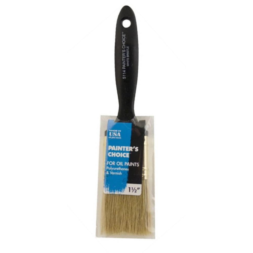 Wooster 1-1/2 in. Flat Painter's Choice White Bristle Bru...