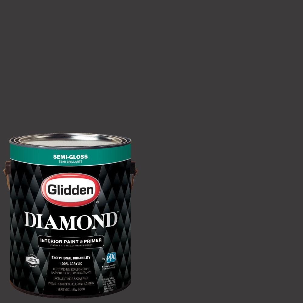 1 gal. #NFL-080E Minnesota Vikings Black Semi-Gloss Interior Paint with Primer