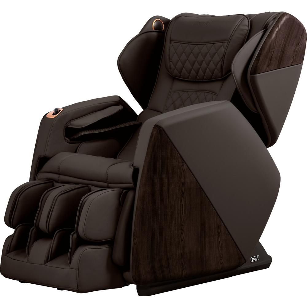 TITAN Pro Series Soho Brown Faux Leather Reclining Massage Chair With  Bluetooth Speakers And 4D Massage OSPROSOHOBR   The Home Depot