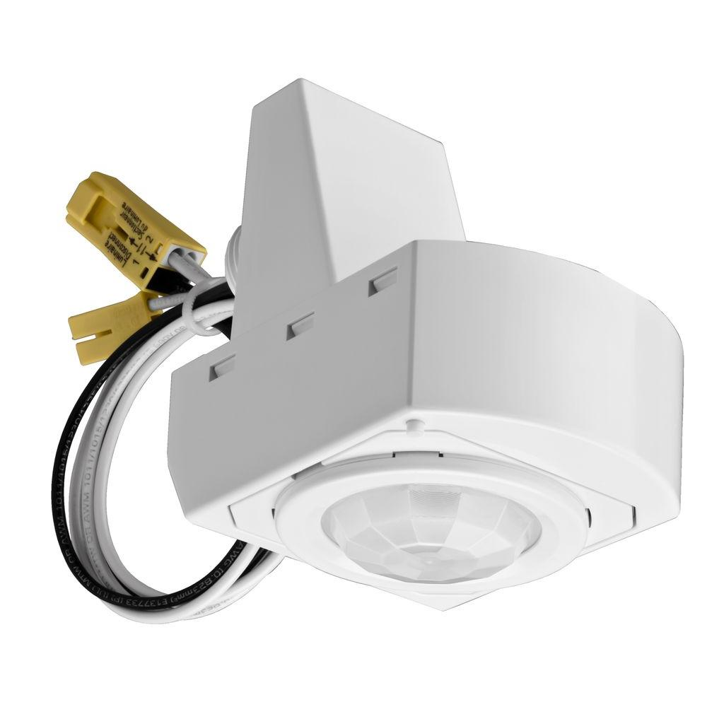 Motion Sensors Wiring Devices Light Controls The Home Depot A Pir 360 Mounted White Sensor Fixture