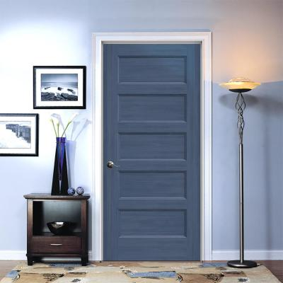 36 in. x 80 in. Conmore Denim Stain Smooth Solid Core Molded Composite Interior Door Slab