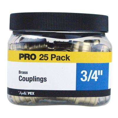 3/4 in. Brass PEX Coupling Jar (25-Pack)