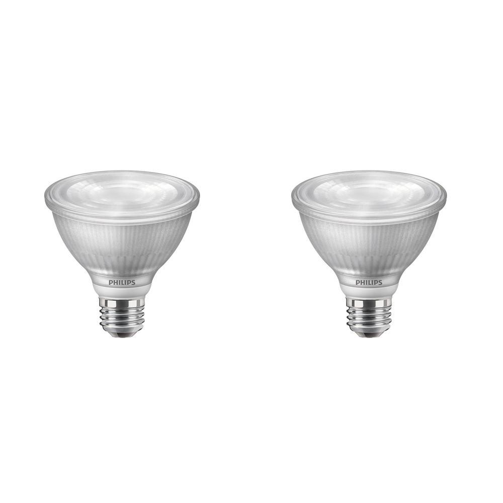 75-Watt Equivalent PAR30S Dimmable LED Light Bulb Warm Glow Bright White (2-Pack)