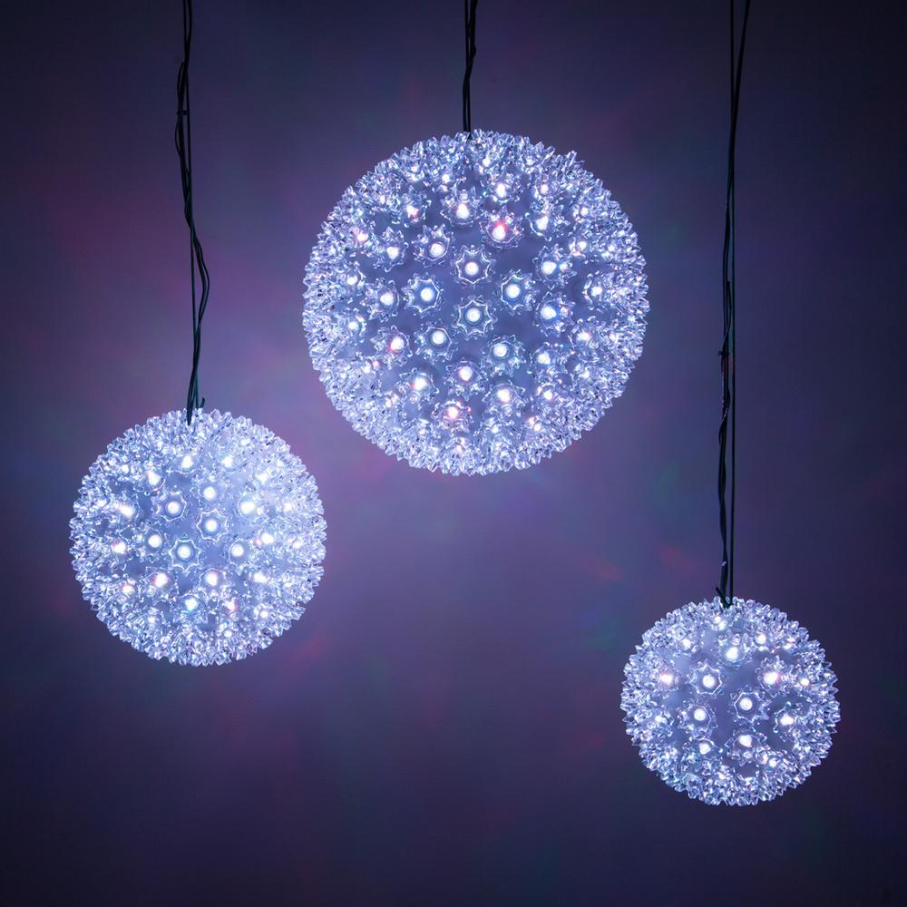 Wintergreen Lighting 7 5 In 120 Light Led Color Changing Starlight Sphere With Remote Control