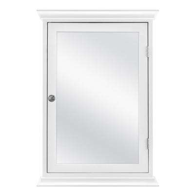 19.8 in. x 28.2 in. Fog Free Surface Mount Medicine Cabinet in White