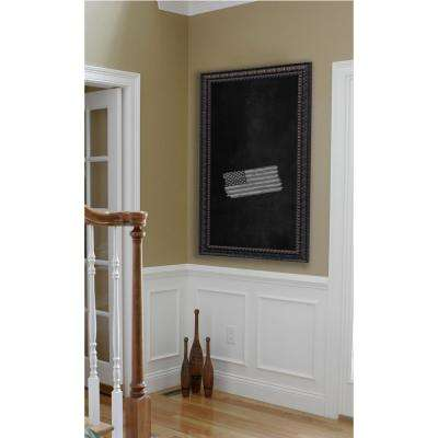 78 in. x 24 in. Dark Embellished Blackboard/Chalkboard
