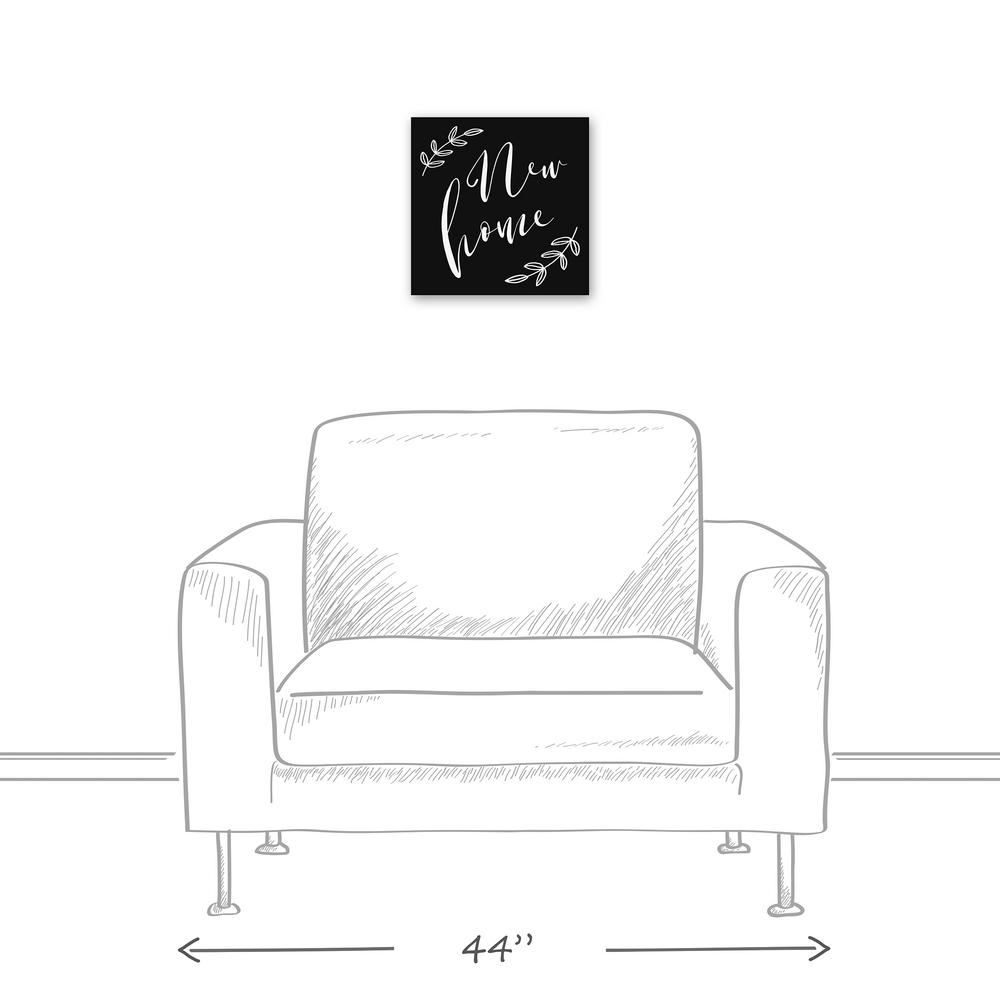12 in. x 12 in. ''New Home'' Printed Canvas Wall Art
