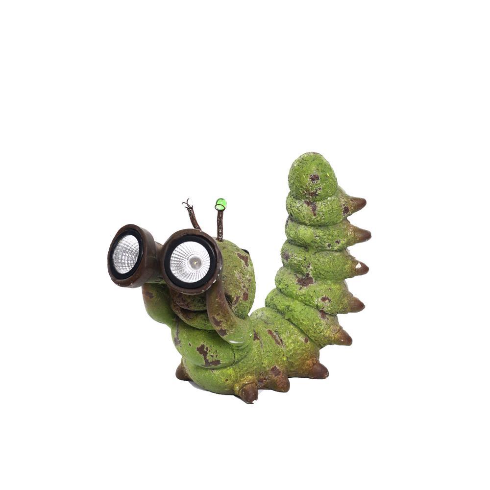 Solar Caterpillar with Binoculars Statue
