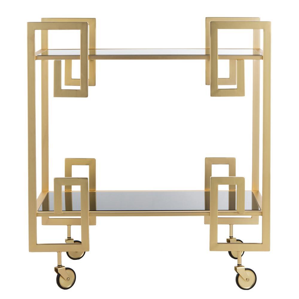 Eliza 2-Tier Brass Bar Cart