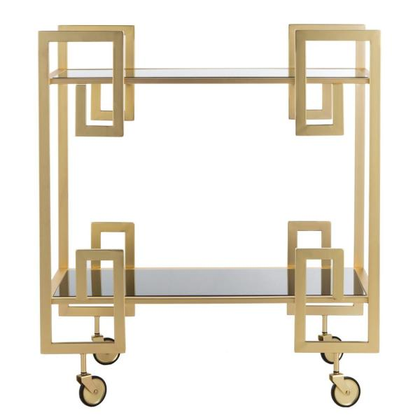 Eliza 2-Tier Brass Bar Cart