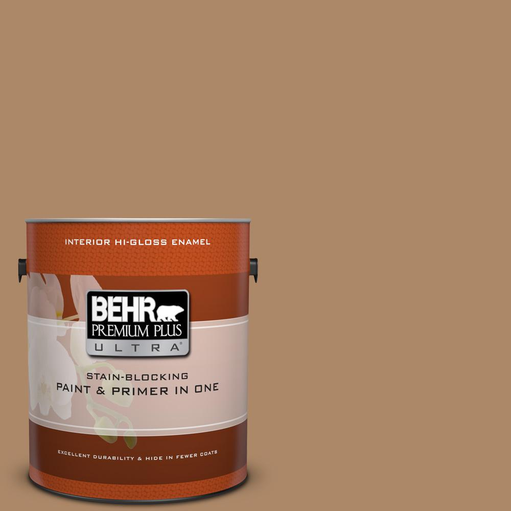 1 gal. #BIC-44 Chamois Leather Hi-Gloss Enamel Interior Paint
