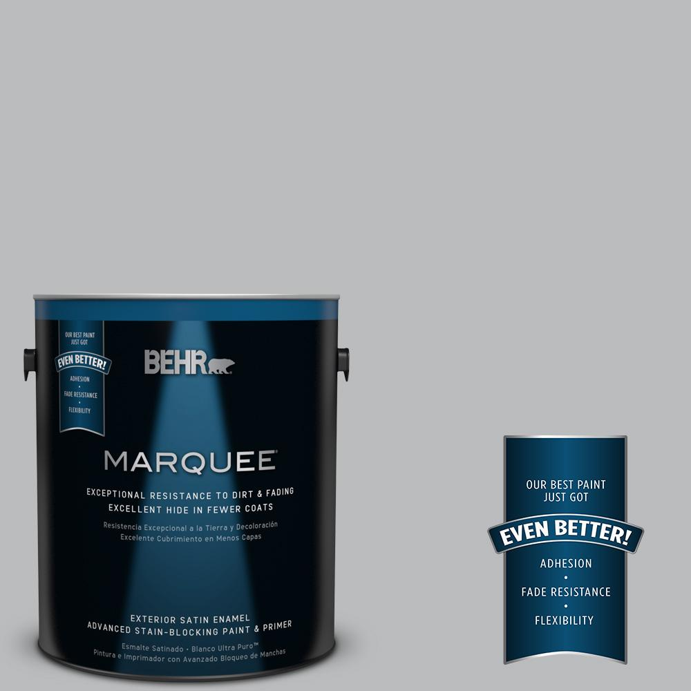 BEHR MARQUEE 1-gal. #PPU18-5 French Silver Satin Enamel Exterior Paint