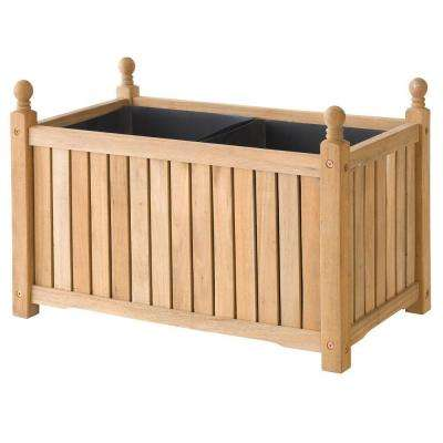 Lexington 28 in. x 16 in. Natural Wood Planter