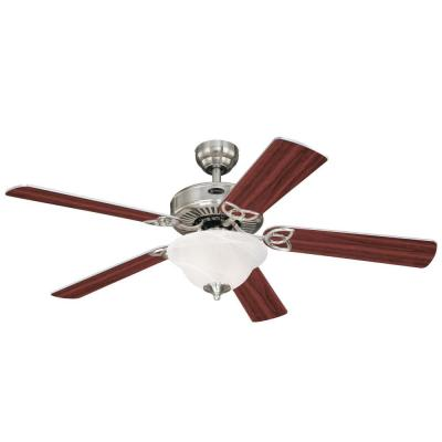 Vintage II 52 in. LED Brushed Nickel Ceiling Fan with Light Kit
