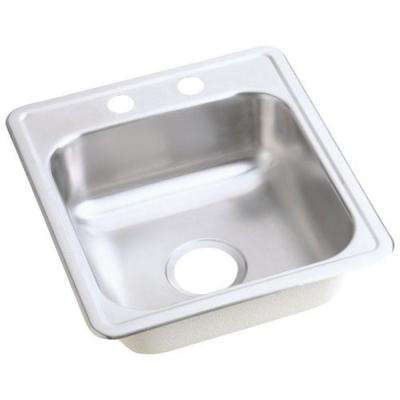 Dayton Drop In Stainless Steel 17 In. 2 Hole Bar Sink