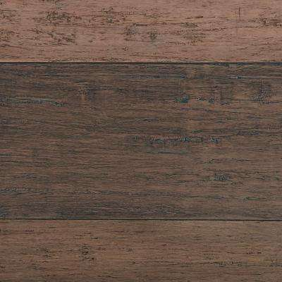 Hand Scraped Strand Woven Terra Cotta 3/8 in. T x 5-1/5 in. W x 36.22 in. L Solid Bamboo Flooring (26.14 sq. ft. / case)