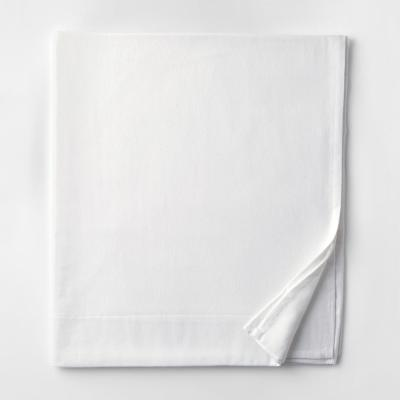 Velvet Flannel White Solid Queen Flat Sheet