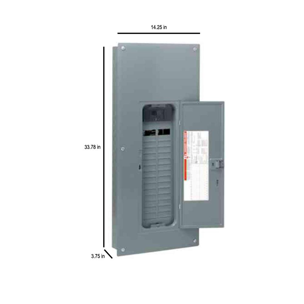 Square D by Schneider Electric HOM2448M100PCVP Homeline 100 Amp 24-Space