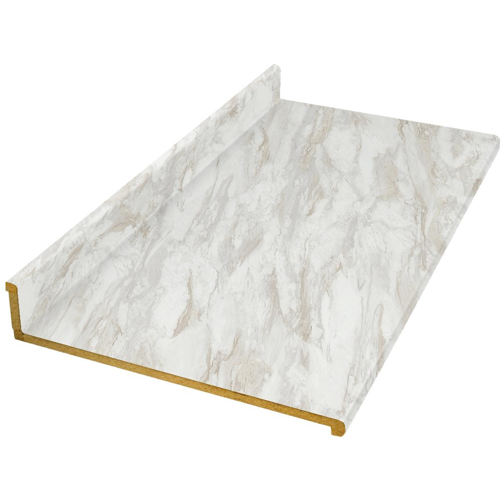 10 ft. Laminate Countertop in Drama Marble with Ora Edge and