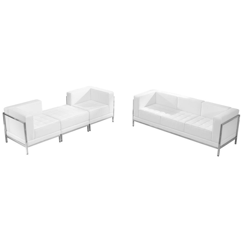 4-Piece Melrose White Living Room Sets