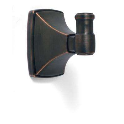 Clarendon Wall Mount Single Robe Hook in Oil Rubbed Bronze