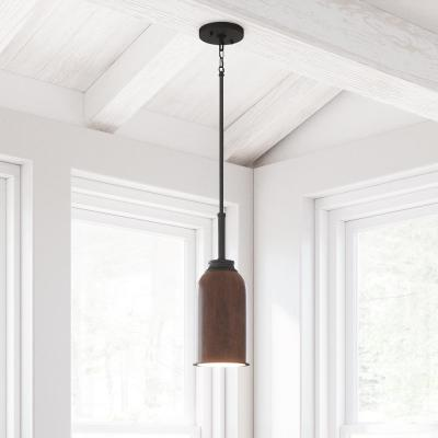 Palermo Grove 1-Light 9-Watt Gilded Iron Integrated LED Mini Pendant