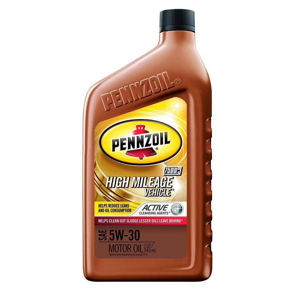 Pennzoil 5w 30 High Mileage Vehicle Motor Oil With Active