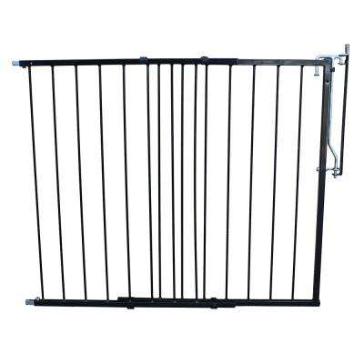 41.5 in. H x 29.5 in. W x 2 in. D Duragate Pet Gate in Black