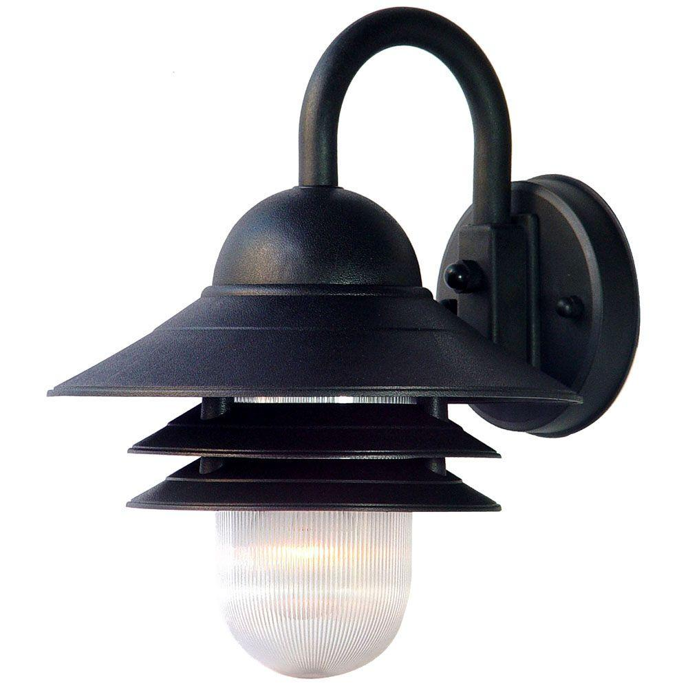 Acclaim Lighting Mariner Collection 1 Light Matte Black Outdoor Wall Mount Fixture