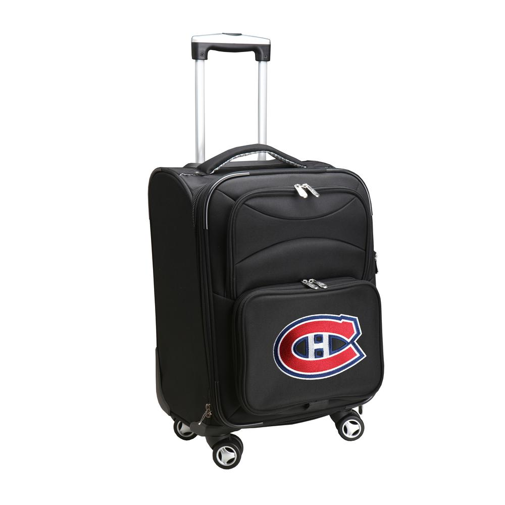 DENCO NHL Montreal Canadians 21 in. Black Carry-On Spinne...