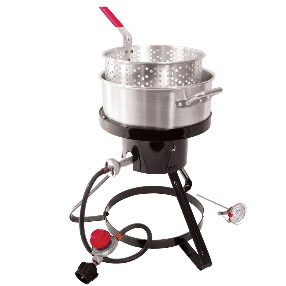 Masterbuilt 10 Qt. Propane Gas Outdoor Fryer and Seafood Kettle